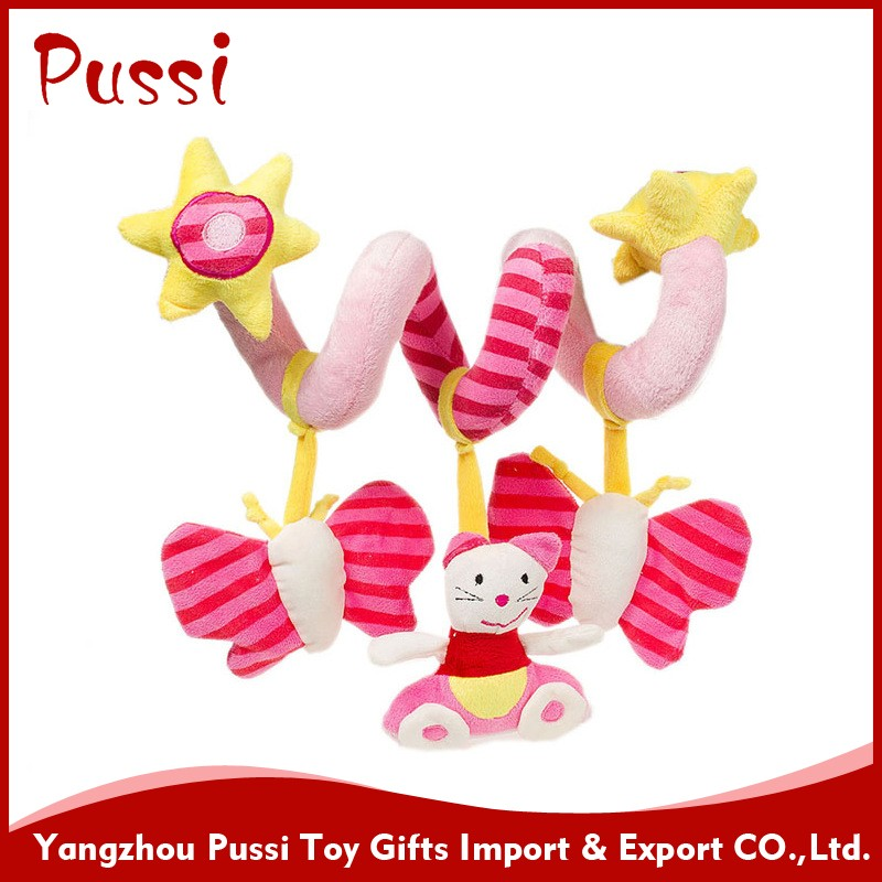 plush toys with baby wrist rattle