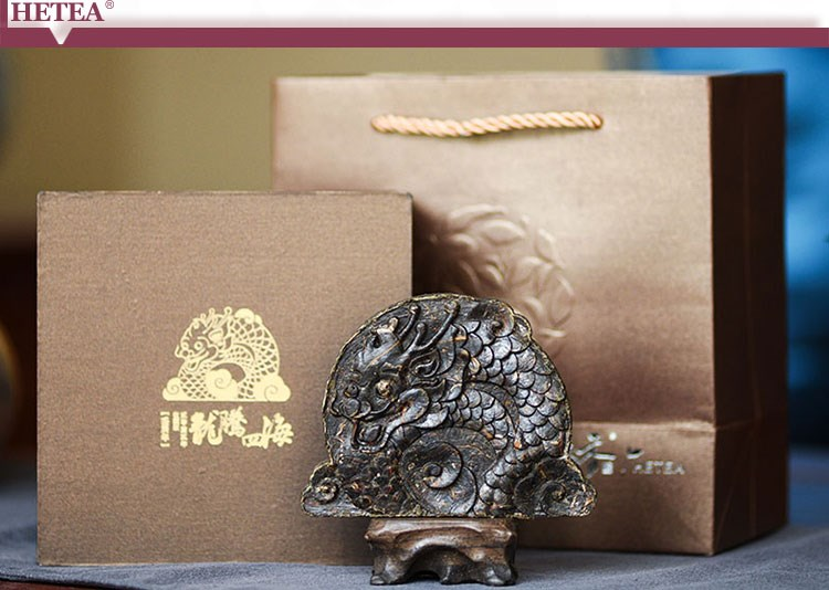 Zodiac Animal DRAGON Tea Carving Puerh Tea Gift