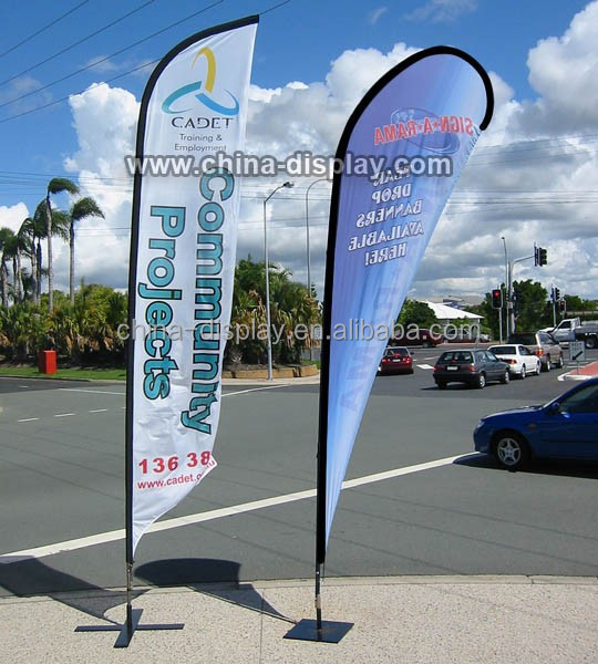 Flexible fibre glass pole commemorative fabric flag banner