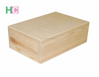unfinished pine wooden jewelry box for sale