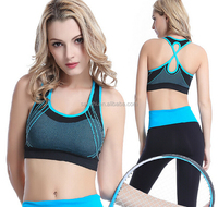 2015 Wholesale Custom Athletic Seamless Workout Gym Fitness Compression Fashionable Designer Sports Bra for Women