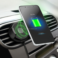 Spring Loaded Mount Phone Holder Car Wireless Charger With Air Vent Design