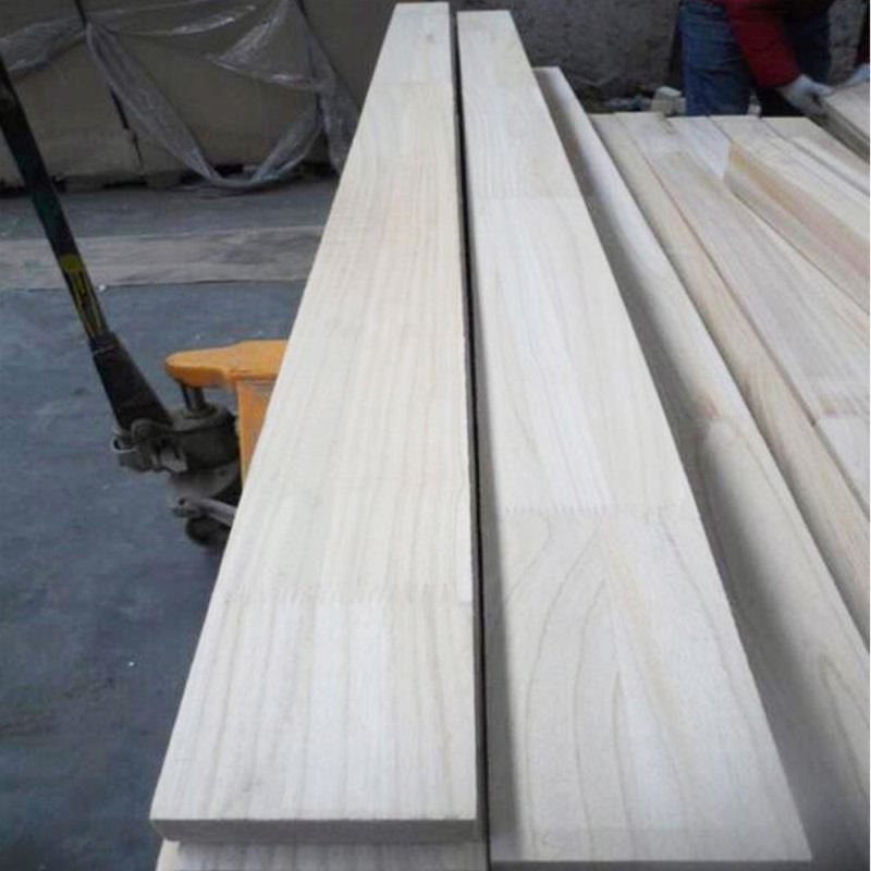 Beautiful Wood Texture Paulownia Finger Joint Board Wood for Furniture Use