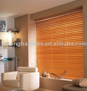 Indoor Horizontal Bamboo Window Venetian Blinds roller blind