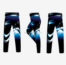 OEM custom yoga pants sexy hot fashion sports leggings women's gym wear blue wave sublimated print wholesale