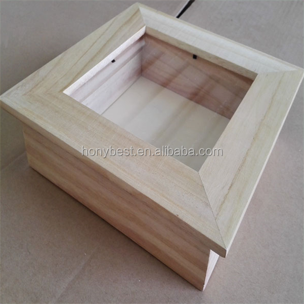 Bulk Free Standing Cheap Wholesale Wooden Shadow Box Picture Frame with Custom Size and Color