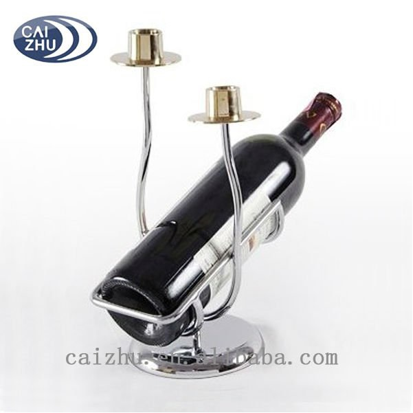 Wine Bottle Holder & Candle Stand