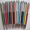 Best-selling Item Stationery Pen Stylus Crystal Metal Pen Touch Pen