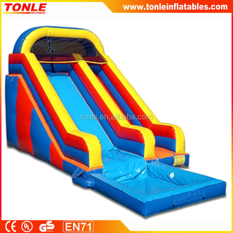 Multi Color Inflatable Slide with Pool, Classical inflatable water slide For Rent