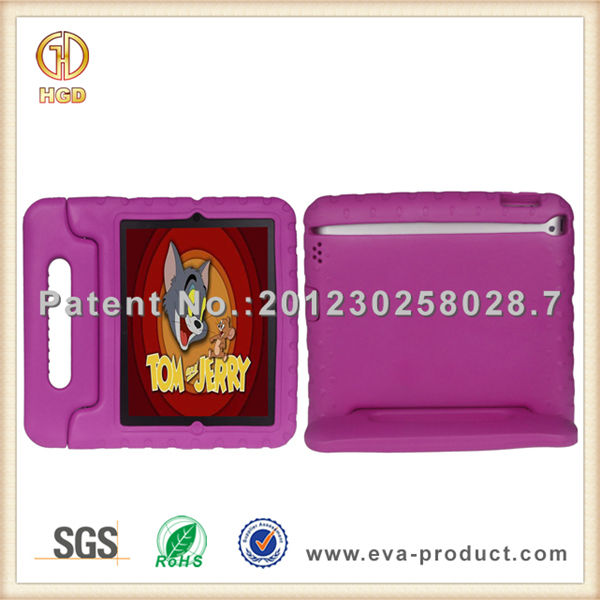For iPad Mini EVA Shell Kids Safe Hight Protective Handle Stand Case