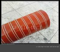 heat resisting flexible silicone reinforced duct