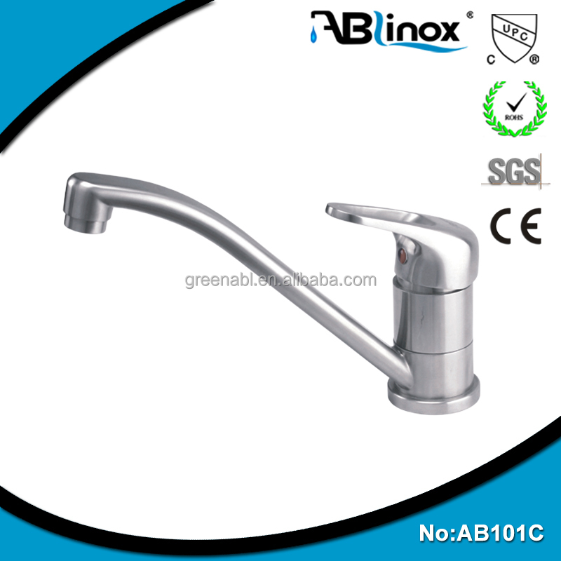 High quality durable stainless steel gooseneck kitchen faucet