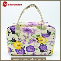 Fashion Custom Flower Bloom Hanging Small Tote Cosmetic Bag
