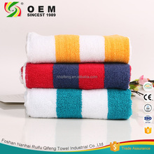 OEM accepted dyed stripes 100% cotton custom terry towel