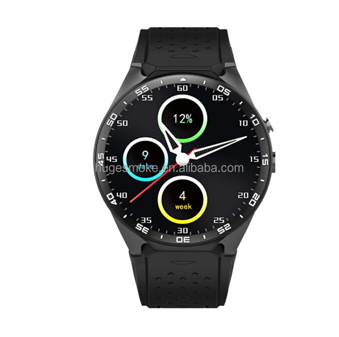 2017 high quality KW88 android 5.1 wrist waterproof 3G wifi GPS 3G smart hand watch mobile phone