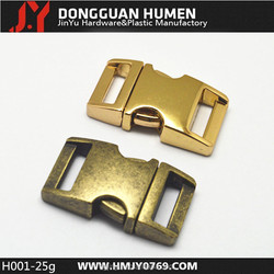 H001 3/8 side release buckle,metal side release buckle for dog collar