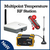 Multipoint Temperature RF Station data logger for flow meter wireless sensor