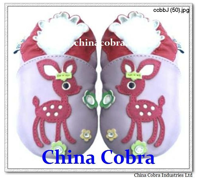 CHINA COBRA best seller deer high quality soft baby shoes leather infant shoes