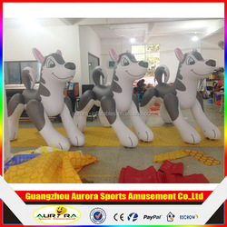 2m Tall Holiday Husky Dog,inflatable Husky Dog