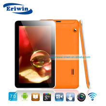 MTK8317 quad core 1G+16G android 2camera bluetooth video FM 1024*600 ZX-MD7019 tablet pc enabled sim cards