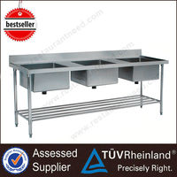 Made In China Square Stainless Steel Restaurant Kitchen Chinese Sink