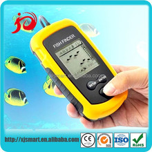 New portable wireless boat fish finder with LCD display