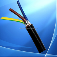 Factory best price black or yellow color RVV 3 cores Copper electric wire, electrical cable