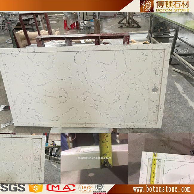 Yunfu artificial marble for hotel bathroom vanity quartz stone / marble shower base