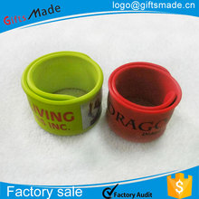 pvc rubber reflective slap band,reflective snap band