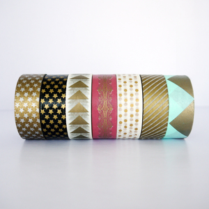 High Quality Printable Customize Patterns Acrylic Decorative Waterproof Adhesive Washi Tape In small Roll