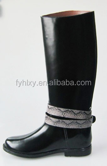 customer new Unique design women fashion pvc riding rain boots in chian