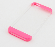 China supplier cost build factor 2 in 1 detachable 3 sections crystal clear back cover case for iPhone 5