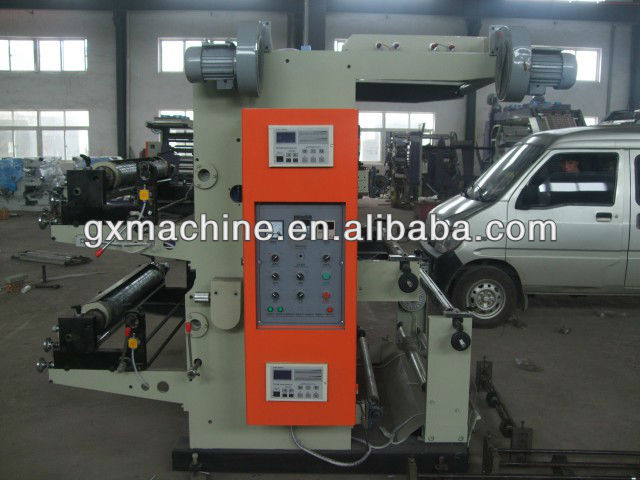 Stretch film two colour flexographic printing machine