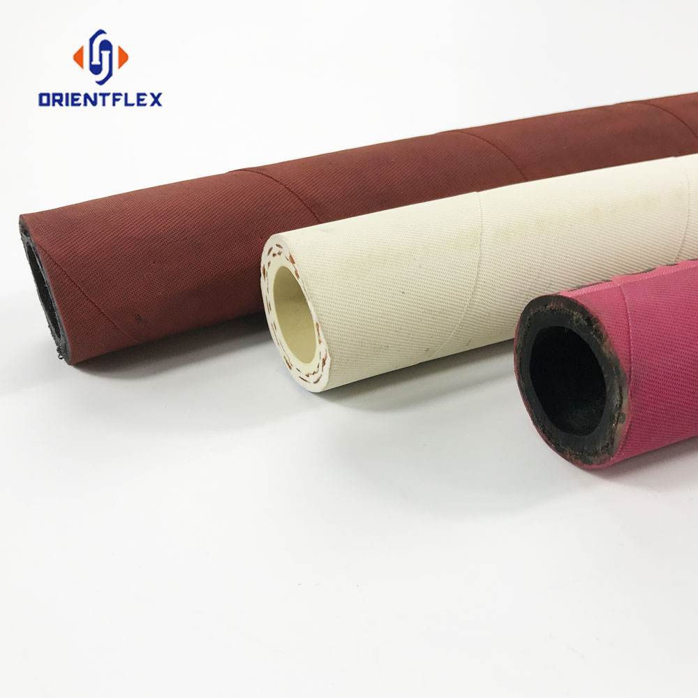 High temperature high pressure heat resistant flexible hot iron braided rubber steam hose