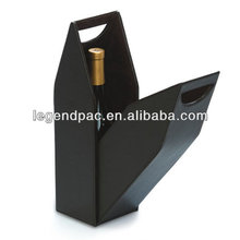 high quality luxury leather wine carrier, wine carrier box