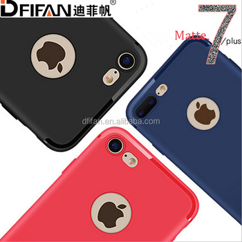 DFIFAN High quality Factory Price TPU Protective Back Phone Case for apple iPhone 7 Case Black