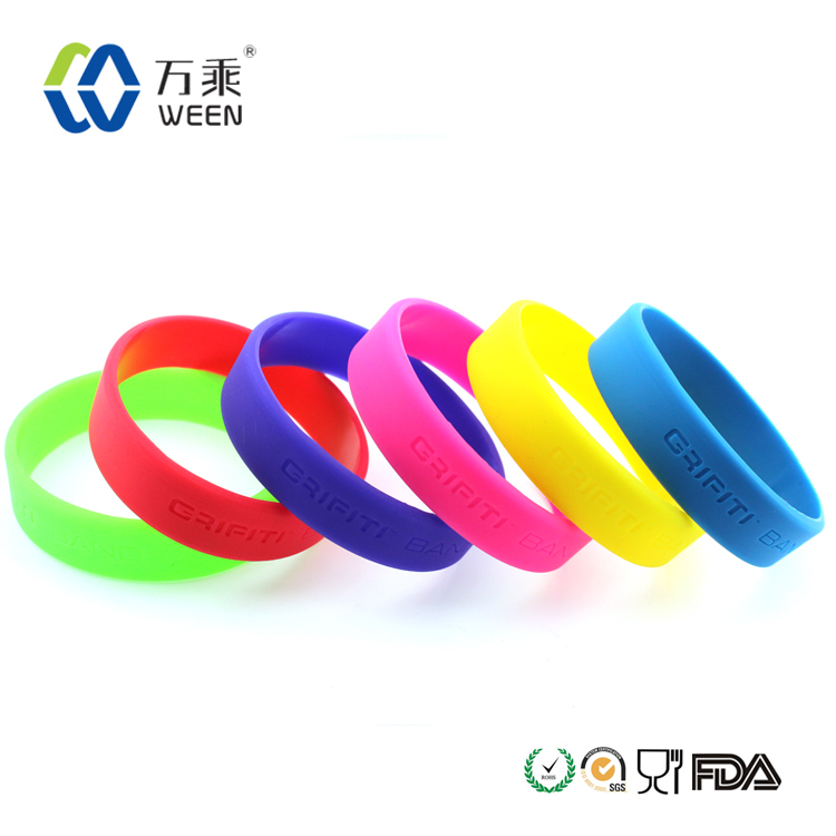 Custom logo silicone rubber hand band for promotional gifts