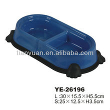 Wholesale best quality portable double diner pet bowl(YE26196)