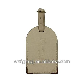 Practical and Retro Color Leather Luggage Tag with Factory Price