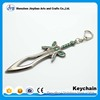 factory wholesale custom 3d key ring sword shaped metal keychain