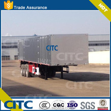 CITC cargo transporting box semi trailer, 3 axles aluminum dry van semi truck trailer