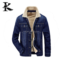 popular jacket demin jacket turn-down collar winter jacket for young man