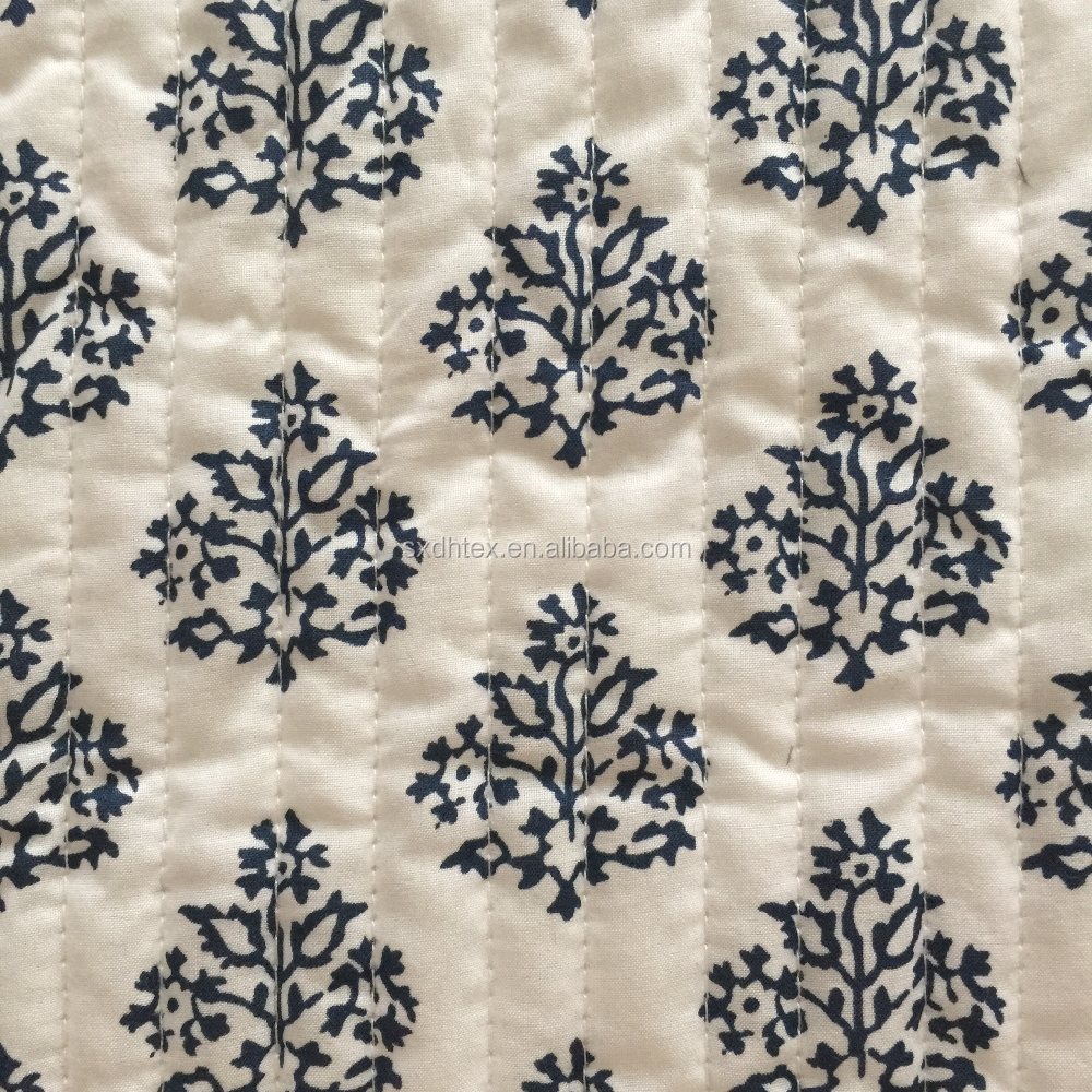 quilted fabric, printed embroidered stripe quilting fabric,printed quilted coat fabric