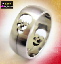 (ELBR10467) Cutout design stainless steel skull ring