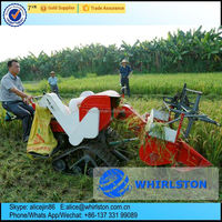 Whirlston Hot sale in Saudi Arabia low price small wheat rice combine harvester/small combine harvester machine