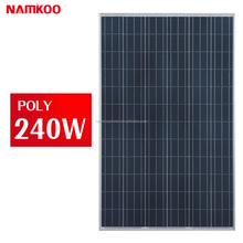 240W Poly Solar panel for Home solar systems 36 cells 12V 24V