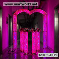 high quality new wedding backdrop decorative product crystal led light arch (MAH-001)