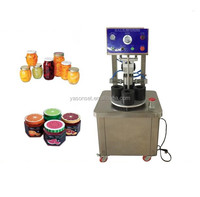 vacuum jar capping machine/glass bottle capping machine/glass can food sealer machine