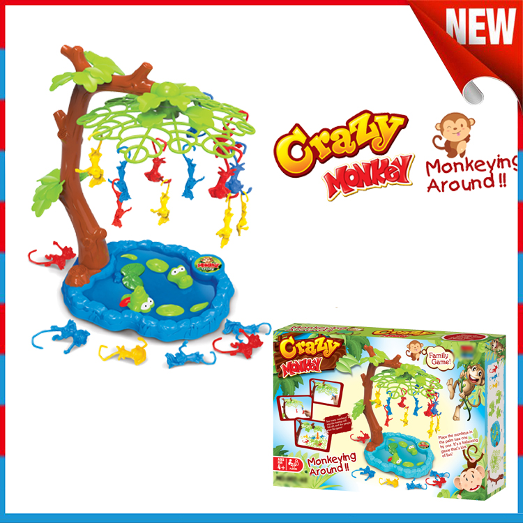 Crazy monkey game plastic falling monkey game toy for kids playing