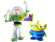 Anniversary Flying Buzz Lightyear and Alien Figure